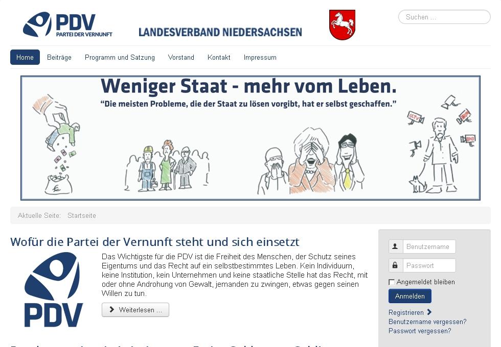 Relaunch PDV-Niedersachsen.de