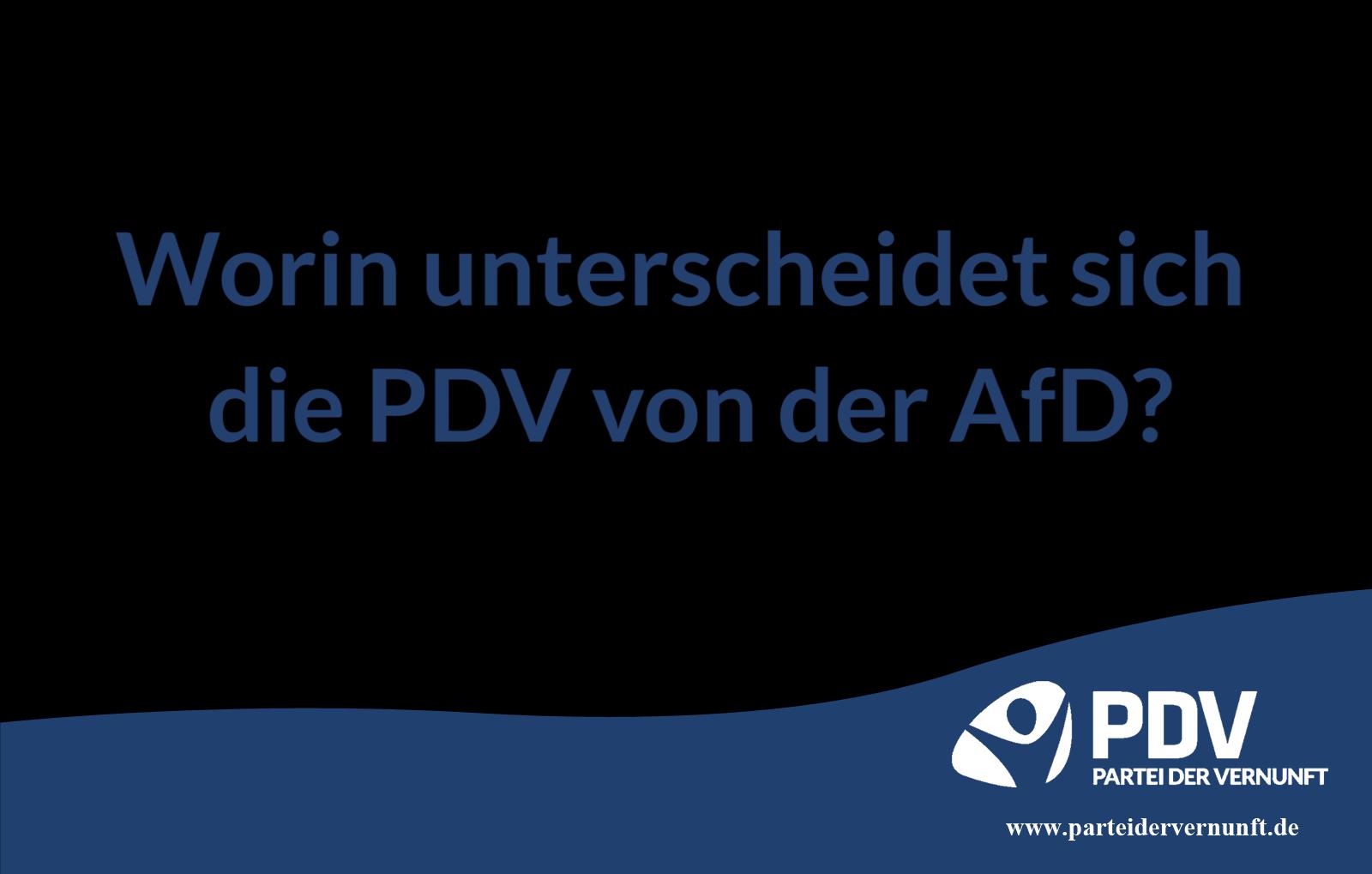 Worin unterscheidet sich die PDV von der AfD?