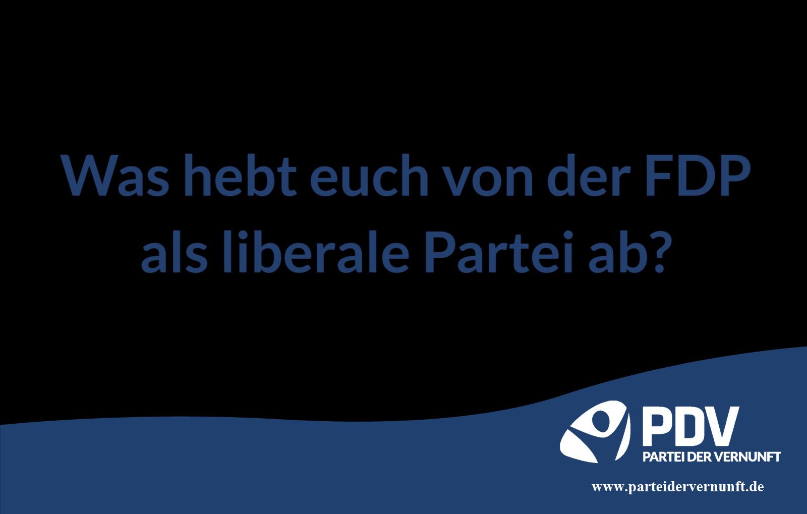 Was hebt die PDV von der FDP als liberale Partei ab?